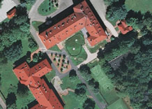 Aerial photography: Experimental institute of SGGW in Warsaw (Poland) - PAN