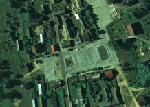 Aerial photography: Square in centre of locality - RGB