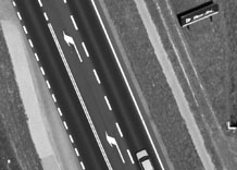 Aerial photography: Part of road - PAN