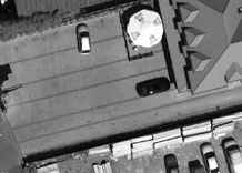 Aerial photography: Parking by the shop - PAN