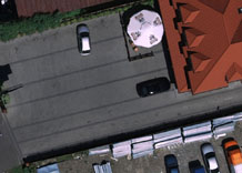 Aerial photography: Parking by the shop - RGB