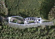 Aerial photography: Castle in Checiny (Poland)