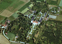 Aerial photography: Palace in Kozlowek (Poland)