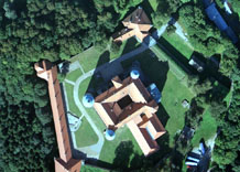 Aerial photography: Castle in Nowy Wisnicz (Poland)