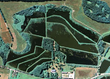 Aerial photography: Fish-breeding ponds (central of Poland)