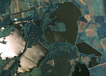Aerial photography: Lakes (central of Poland)