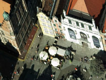 Aerial photography: Monumental houses in Gdansk (Poland)