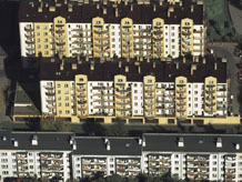 Aerial photography: Block of flats