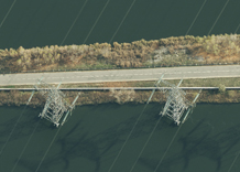 Aerial photography: High-voltage poles