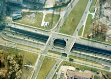 Aerial photography: Route GOP - cross road in Katowice (Poland)