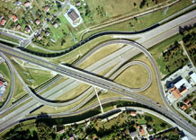 Aerial photography: Road junction