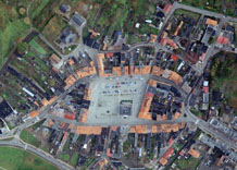 Aerial photography: Marketplace in Milicz (Poland)