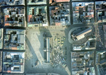 Aerial photography: Main marketplace in Krakow (Poland)