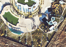 Aerial photography: Waterpark (Zaporizhia Oblast)